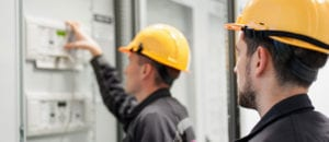commercial electricians will most likely have to work with a team