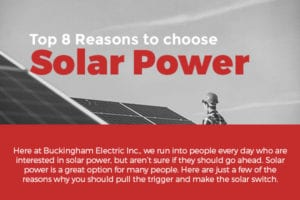 Top 8 Reasons to Choose Solar Power [infographic]